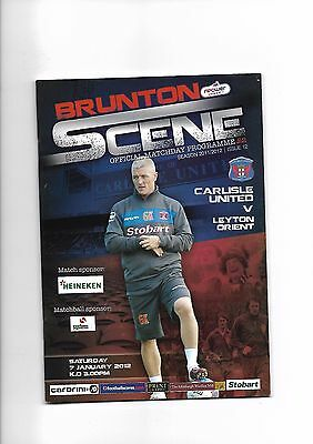 Carlisle United  v  Leyton Orient, 7th January 2012