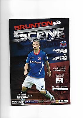 Carlisle United  v  Preston North End, 20th March 2012