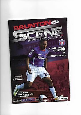 Carlisle United  v  Brentford, 8th October 2011