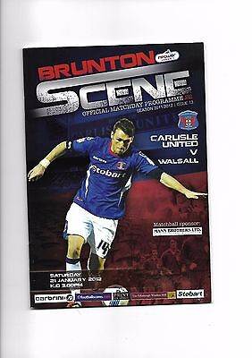 Carlisle United  v  Walsall, 21st January 2012