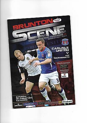 Carlisle United  v  Bournemouth, 20th August 2011