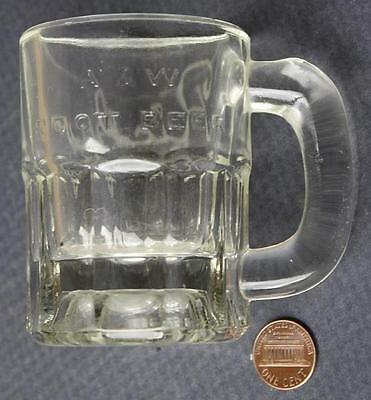1950s Era A&W Root Beer 3-D lettered baby root beer stein with etched Ricky name