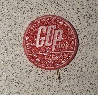Vintage 1964 GOP Red Convention Political Pin - Republican