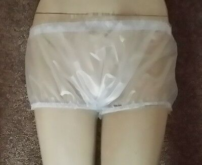 PVC Briefs Knickers Hot Pants Boy Shorts Sissy Roleplay Semi Clear Adult baby