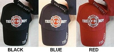 NAVY FD FIRE DEPARTMENT HAT dept firemen fdny ball baseball cap dept A29 BLACK
