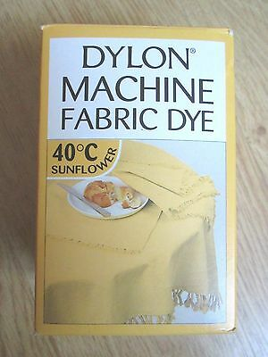 NEW DYLON MACHINE FABRIC DYE SUNFLOWER YELLOW 200g NEW SEALED FOR CLOTHES & HOME