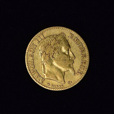 France 10 Francs Napoleon Iii 1866 A Gold Coin