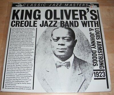 King Oliver's Creole Jazz Band With Louis Armstrong & Johnny Dodds 1923 LP