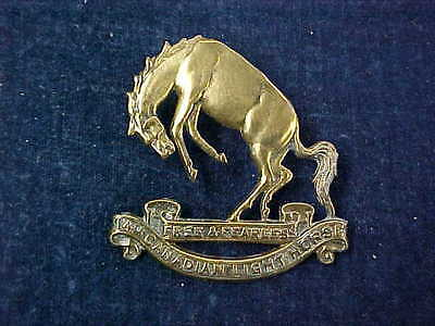 Orig WW2 Cap Badge The 14th Canadian Light Horse Free & Fearless