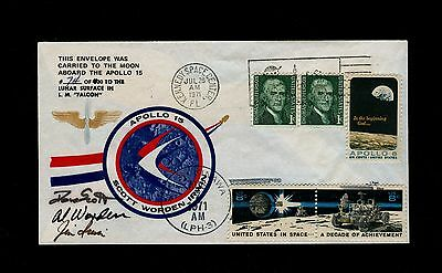 Apollo 15 Flown to Lunar Surface Crew Cover #74 WITH 1983 Certification Letter