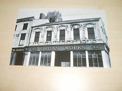 1975 Photograph Of Liverpool Willis's Organ Works Gt.George St Modern Print Off