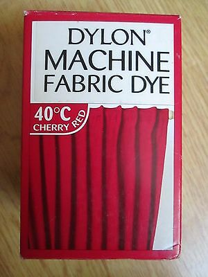 NEW DYLON MACHINE FABRIC DYE CHERRY RED 200g NEW SEALED FOR CLOTHES, FURNISHINGS