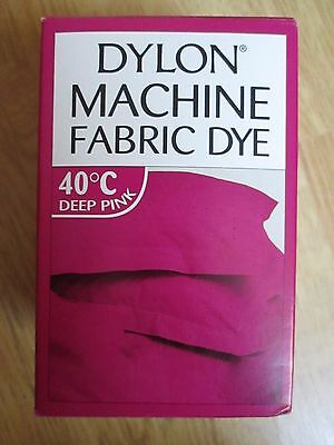 NEW DYLON MACHINE FABRIC DYE DEEP PINK 200g NEW SEALED FOR CLOTHES, FURNISHINGS