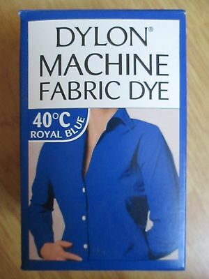 NEW DYLON MACHINE FABRIC DYE ROYAL BLUE 200g NEW SEALED FOR CLOTHES, FURNISHINGS