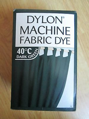 NEW DYLON MACHINE FABRIC DYE DARK GREEN 200g NEW SEALED FOR CLOTHES, FURNISHINGS