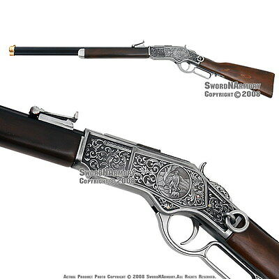 """38"""" Replica Winchester Lever Action 1873 Engraved Rifle"""