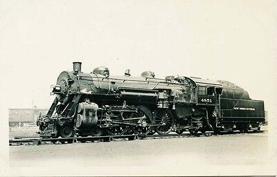 A628 RPPC 1950s NYC RR NEW YORK CENTRAL RAILROAD ENGINE #4851