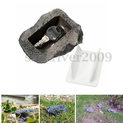 Realistic Rock Hide A Key Holder Yard Garden Outdoor Safe Stone Hider Storage