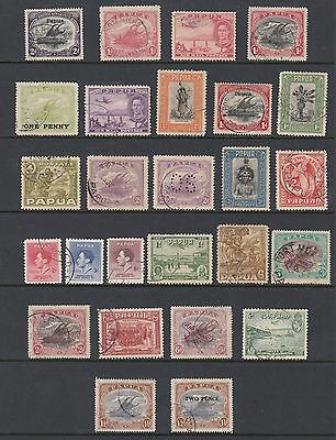PAPUA, Collection of 26 stamps, USED