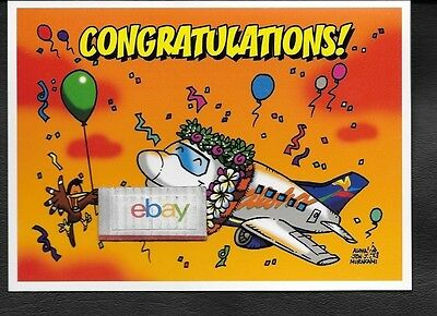Aloha Airlines 737 Jet Congratulations Jon Murakami Notecard Unused