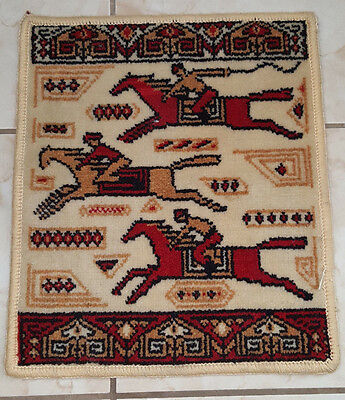Small Wool Horse Rider Rug 15 3/4'' X 18 3/4''