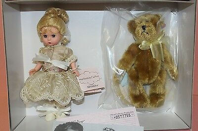 """Madame Alexander Doll 8"""" Bent Knee Wendy - Antique Chaos The Bear And Wen New"""