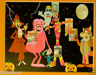 Matted Count Chocula Franken Berry Boo Berry Mummy Brute Animation  Art Cel Cell