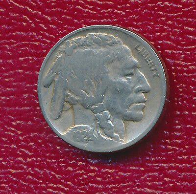 1926 Buffalo Nickel **strong Feather & Buffalo Lines** Toning Accents Features!