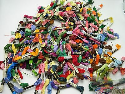 Embroidery floss mixed lot of 150+ most DMC  variety colors brands