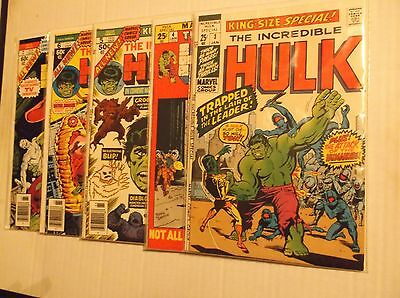 Incredible Hulk Annual # 3, 4, 5, 6, 7 Set / Lot - 2Nd App Groot