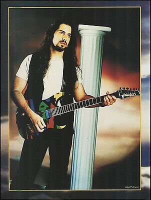 John Petrucci with Signature Ibanez JPM100 Picasso guitar 8 x 11 pin-up photo
