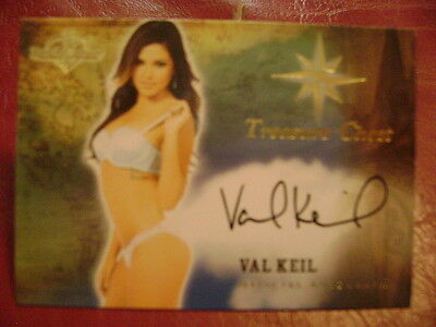 2015 Benchwarmer Treasure Chest Val Keil BASE AUTO GOLD PLAYMATE
