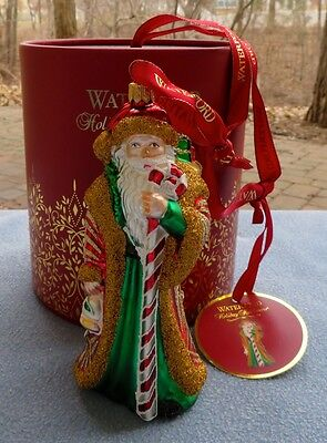 Waterford Holiday Heirlooms Nostalgic Candy Cane Santa Ornament Mint NEW In Box