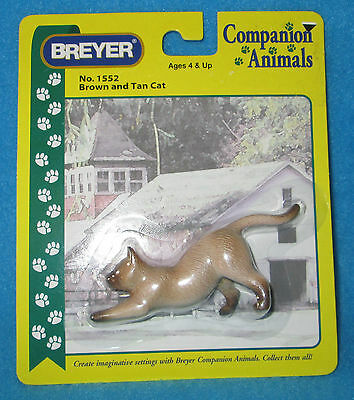 Breyer Brown and Tan Companion Animal Plastic Cat in package