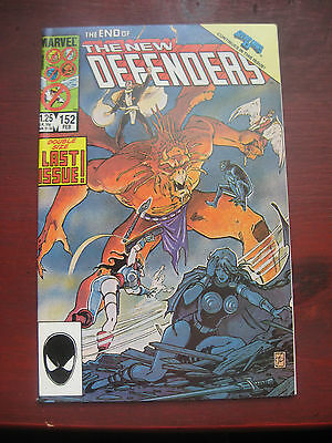 MARVEL COMICS VOLUME 1 No 152 END OF THE NEW DEFENDERS DOUBLE SIZE LAST ISSUE NR