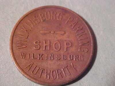 WILKINSBURG PA PARKING TOKEN 3987 Fb 23 MM BRASS GOOD ALL OVER