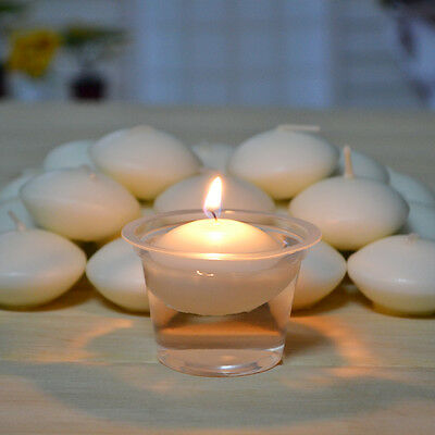 Round White Floating Candle Water Floater Candles Wedding Party Home Decor Love