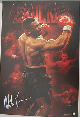 Mike Tyson Signed Limited Edition Baddest Man On The Planet Print Ali Mayweather