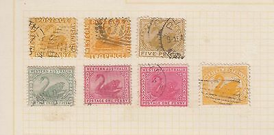 Western Australia used lot 7 stamps on page.