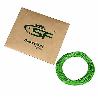 SF 100 FT Green Weight Forward Fly Fishing Line WF 2 3 4 5 6 7 8 9 F Loops