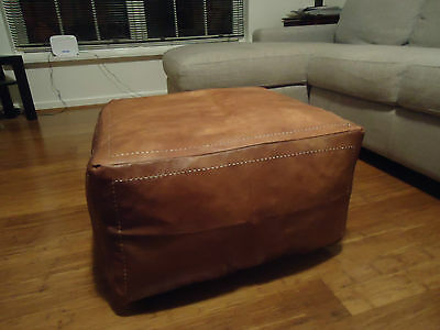 **Faulty Zip = Discounted: Leather Ottoman or Sofa, Footstool or Coffee Table