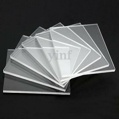 3mm 6 Packs Acrylic Stamping Rubber Blocks Transparency Plexiglass Thin Clear
