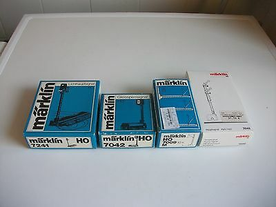 Empty Boxes For Marklin Signals/lights (4) Ho Gauge Germany (Boxed For Shipping)