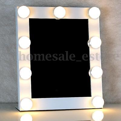 LED Bulb Vanity Lighted Hollywood Makeup Mirror with Dimmer Stage Beauty White