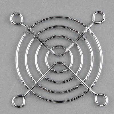 2pcs Silver Metal 60mm Chrome Fan Grill Finger Guard Protector for PC EA
