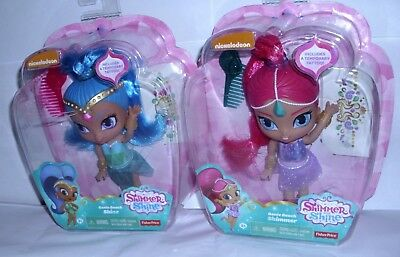 "Fisher-price Shimmer & Shine Shimmer Doll 5 1/2"" With Genie Gem Stickers New"