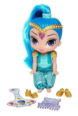 "Fisher-price Shimmer & Shine Shine Doll 5 1/2"" With Genie Gem Stickers New"