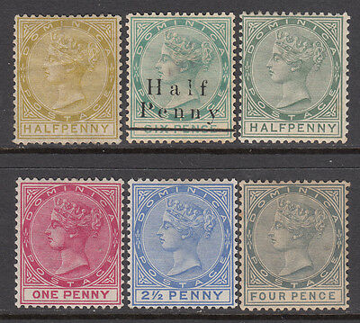 DOMINICA QV group mh (6) CV £39