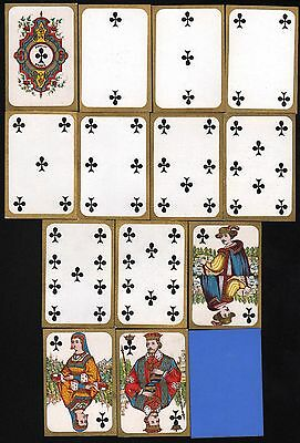 1875 Spielkarten playing cards jeu de cartes Daveluy Bruges Middle Age costumes