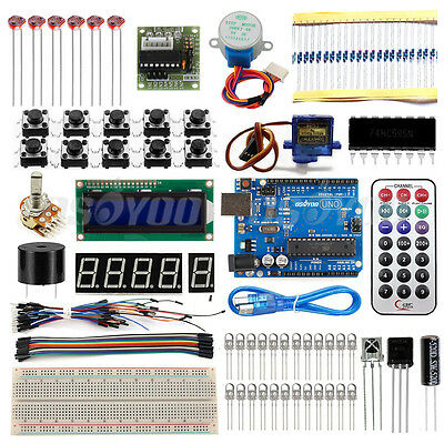 AU Ultimate Starter Kit 1602 LCD Servo Motor Potentiometer for Arduino UNO R3